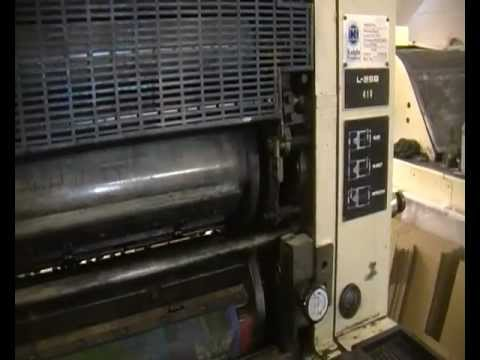komori l 25b single colour press youtube rh youtube com