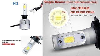 Установка LED ламп ближнього світла(Н1) з Китаю на ВАЗ 2110