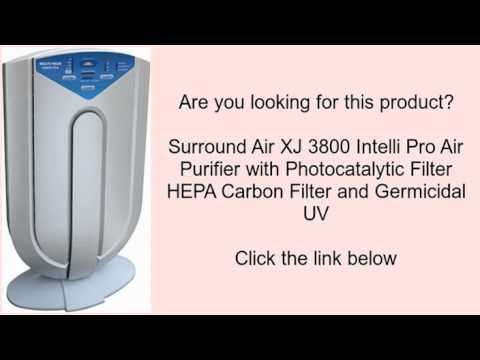 Surround Air Xj 3800 Intelli Pro Purifier With Photocatalytic Filter Hepa Carbon