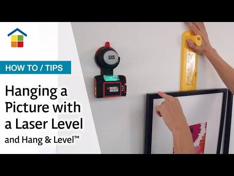 Hanging Pictures With Hang Level And Suregrip Laser Level Youtube