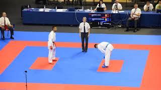 Maresca Luca - Bodrovs Nikolajs, Karate European Championship 2018,  67kg
