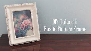 Distressed Picture Frame DIY Tutorial | TheGypsyBox Video