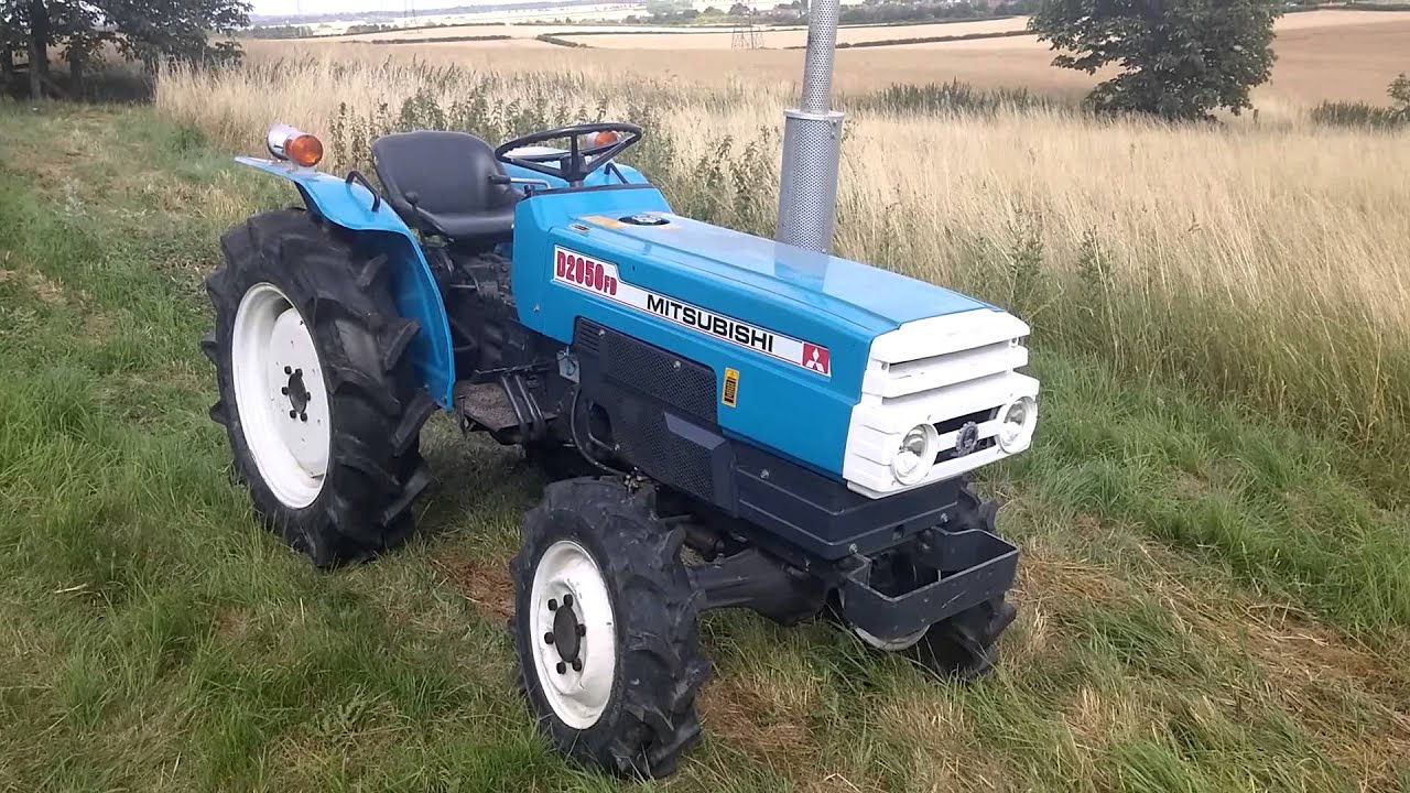 Mitsubishi D2050 FD compact tractor - YouTube