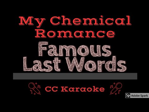 My Chemical Romance • Famous Last Words (CC) [Karaoke Instrumental Lyrics]