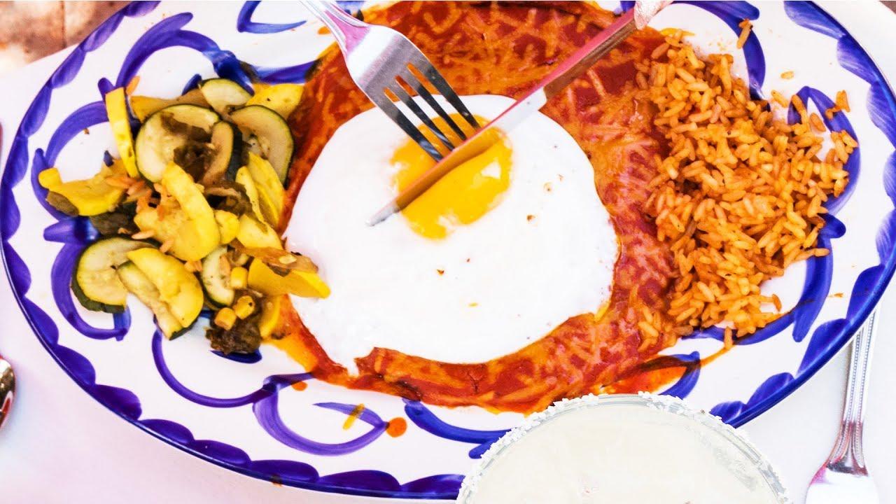 Making Stacked Blue Corn Enchiladas - El Pinto Restaurant