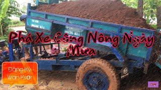 Xe Công Nông 2 Cầu Chở Đất Nặng Bị Lún Bánh Sau Và Đón Xem Cái Kết Gì Xảy Ra |Farm Vehicle