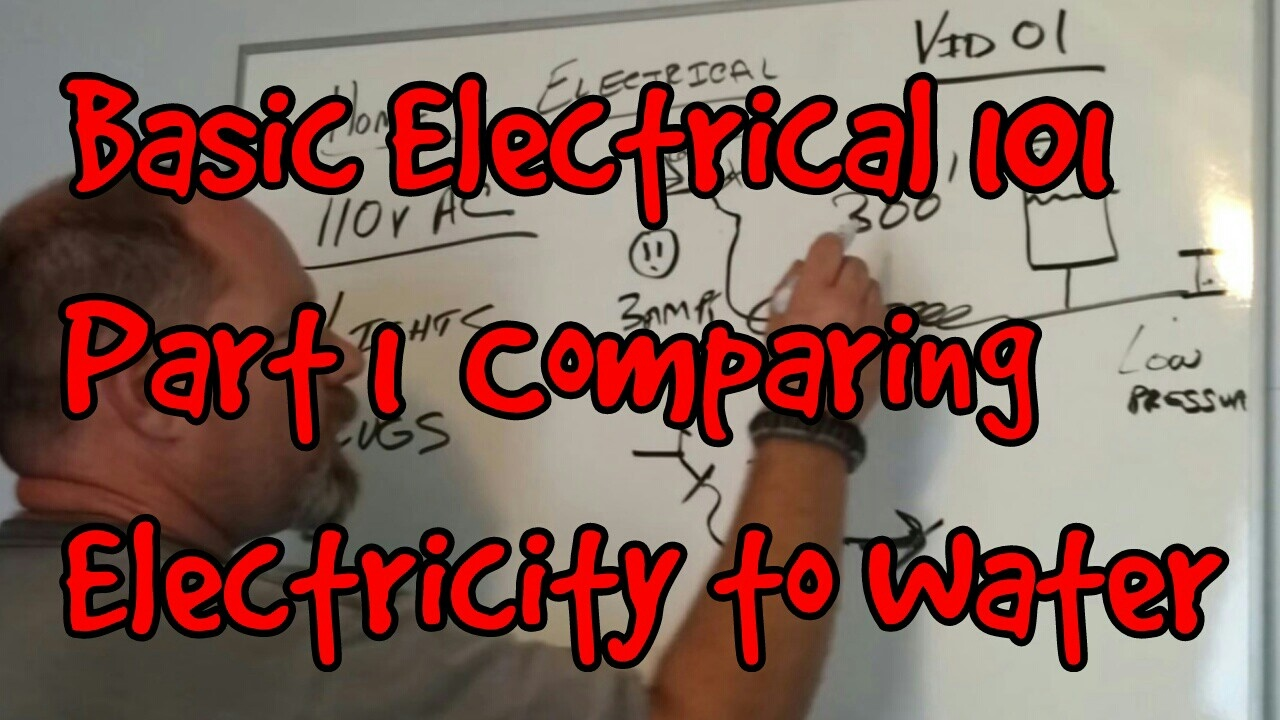 BASIC ELECTRICAL 101 #01 ~ HOW ELECTRICITY COMPARES TO WATER - YouTube