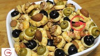 Mini Sablés Salés Aux Olives, Noix Et Amandes - Le Buffet Gourmand