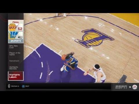 NBA LIVE 19 gameplay|lakers vs warriors