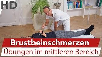 Brustschmerzen am Brustbein mittig / Übungen mit der Faszienrolle / Faszien / Faszientraining