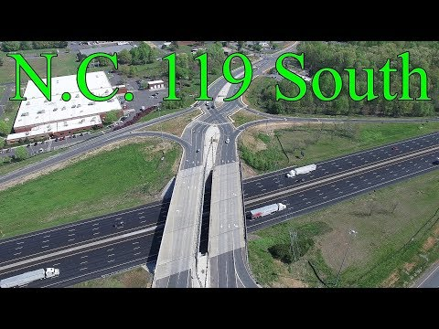 Updated Aerial Views Of N.C. 119 North & South Relocation Project - Mebane, NC