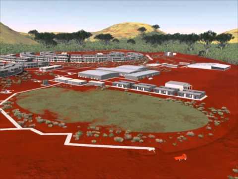 Kangi 1800 Person Camp Fly Through