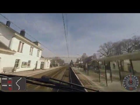 A train driver's view: Roosendaal - Amsterdam CS, VIRM, 10-Mar-2016.