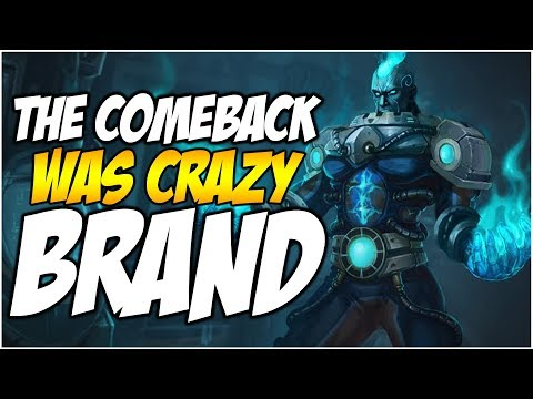 CRAZY COMEBACK BRAND MID LANE | League of Legends
