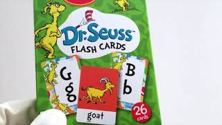 Learning Numbers & Alphabet with Dr. Seuess Flash Cards!