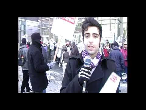 Manifestation des employés en lock-out du Journal de Montréal
