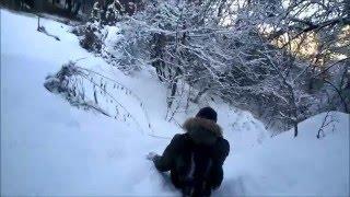 1080p HD Катание на ледянках