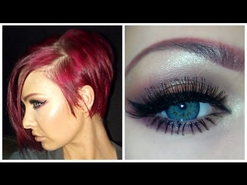 Fall Make Up Tutorial - Gold U0026 Burgundy + New Hair!! - YouTube