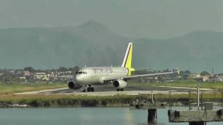 Flugzeugstart von einer der kürzesten Startbahn Europas.