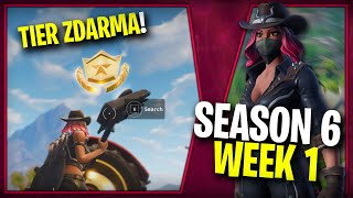 WHERE IS the FIRST FREE TIER FOR SEASON 6 (Semaine 1)-Fortnite Battle Royale CZ/SK
