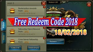 Free Redeem Code 2018 Legacy of Discord