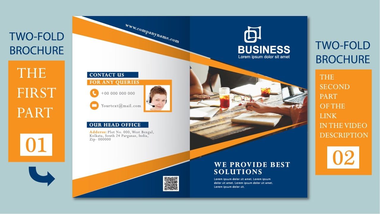 Illustrator Tutorial Two Fold Business Brochure Template Part - Two page brochure template