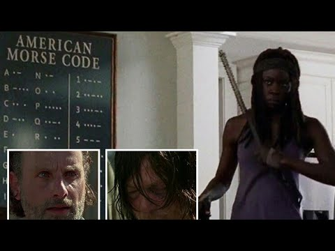 Daryl Dixon Morse Code ( The Walking Dead Season 7 Episode 4 )