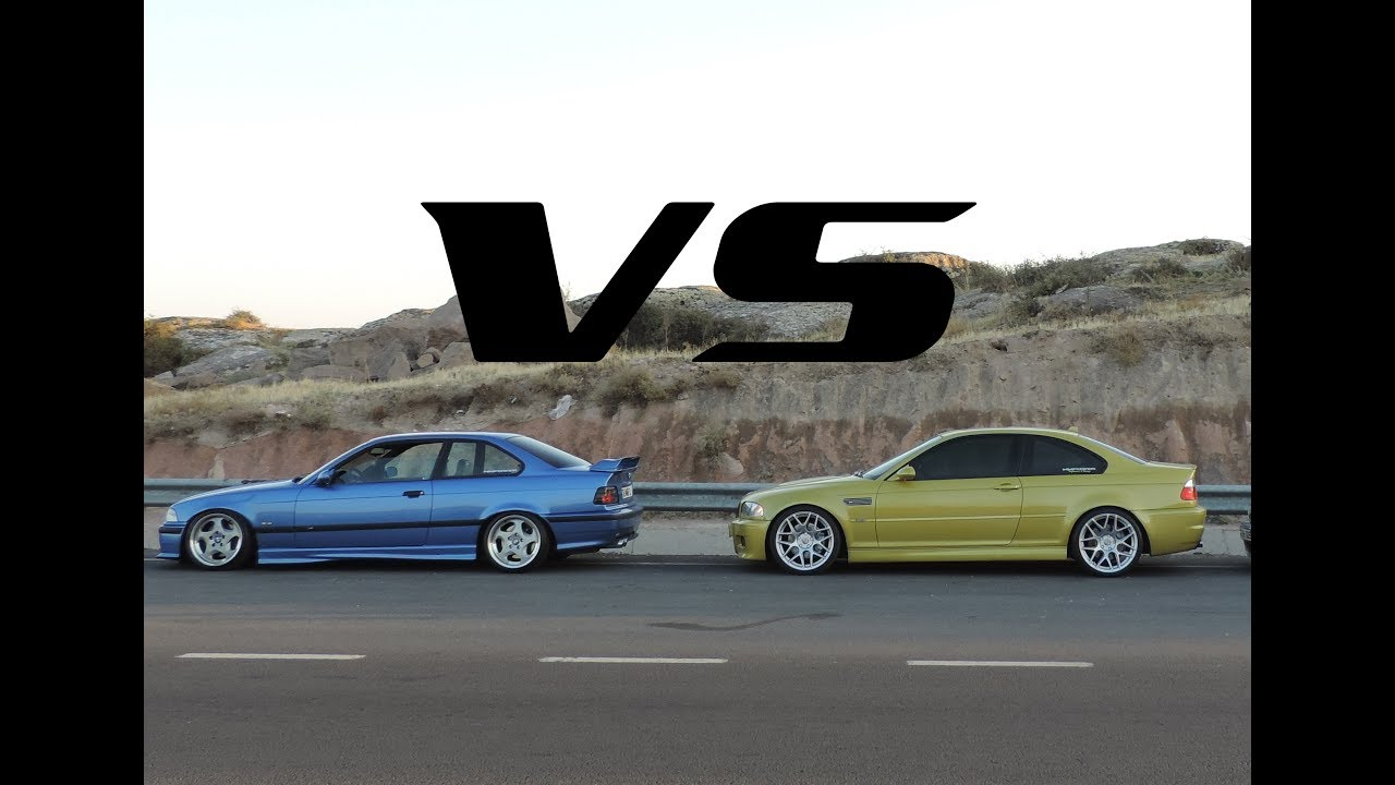Sedan Vs Coupe >> BMW E36 M3 3.2 EVO vs BMW E46 M3 SMG II Rolling Race - YouTube
