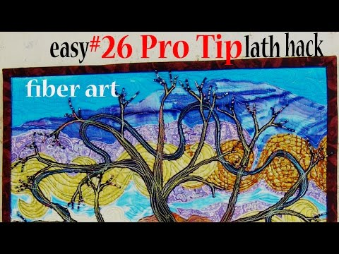 Pro Sewing Tips: #26 | Easy Hanging Lath for wall hangings | New Fiber Art Tutorial