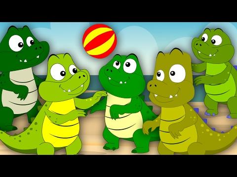 Five Crocodiles Went Swimming One Day Nursery Rhymes Kids Songs Baby Rhymes kids tv S03 EP30