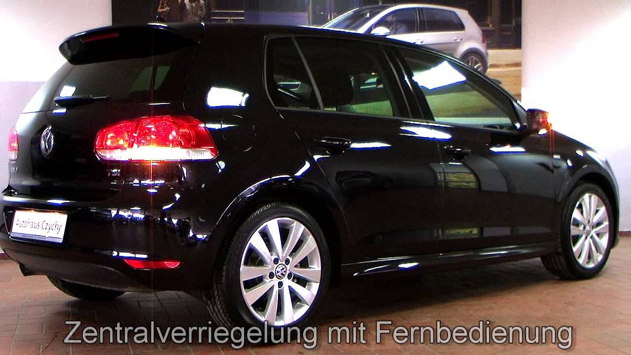 volkswagen golf vi 1 2 tsi match r design cw332414 deep black perleffekt xenon schiebedach youtube. Black Bedroom Furniture Sets. Home Design Ideas