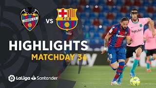 Highlights Levante UD vs FC Barcelona (3-3)