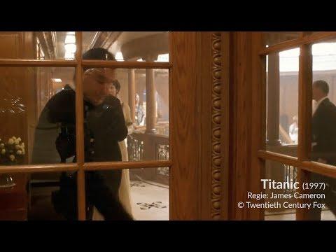 Filmfehler, aber kein Anschlussfehler: sich spiegelnde Kamera bei Titanic (1997)