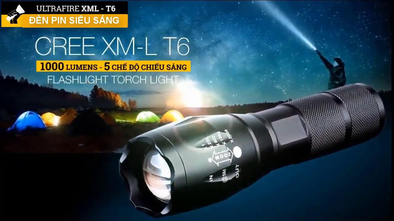 Đèn Pin Siêu Sáng XML – T6 Công Nghệ Mỹ