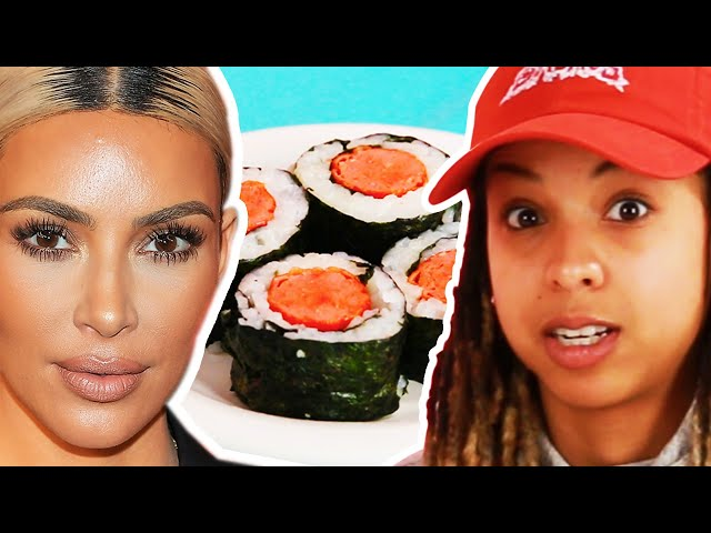 People Try Kim Kardashian's Hot Dog Sushi