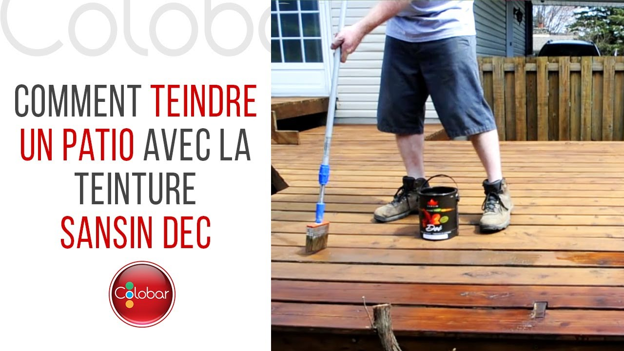 Comment Teindre Un Patio Avec La Teinture Sansin Dec Youtube