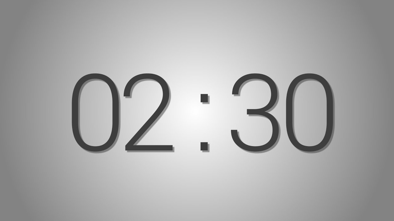 2 Minutes and 30 seconds countdown Timer - Beep at the end | Simple Timer  (two min and half)