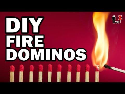 DIY FIRE DOMINOS - Man Vs Pin #469