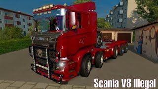 ETS2 v1.27 I Mod ★ Scania V8 Illegal Reworked R&S v 9.0.1 [Deutsch/HD]