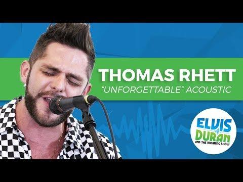 "Thomas Rhett - ""Unforgettable"" Acoustic   Elvis Duran Live"
