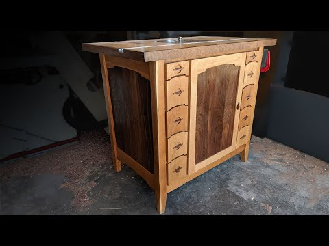 Building a Router Table -  Shop Cabinet - THE MOST ULTIMATE OF THEM ALL!! - Woodworking