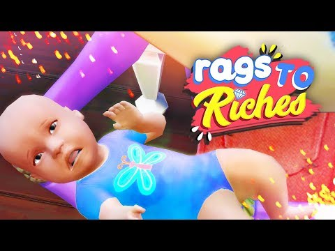 NEW BABY...STOLEN??? 👶🏼 // The Sims 4: Rags To Riches #25