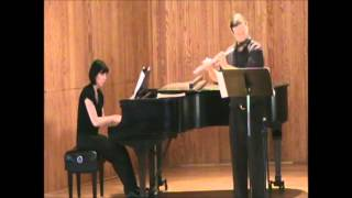 Forlane for Flute & Piano by Germaine Tailleferre.  Oren Selah-Flute, Sarah J.-Piano