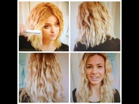 How To: Wavy Hair with a Straightener - YouTube