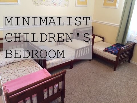 Minimalist children 39 s bedroom tour family minimalism for Minimalist family