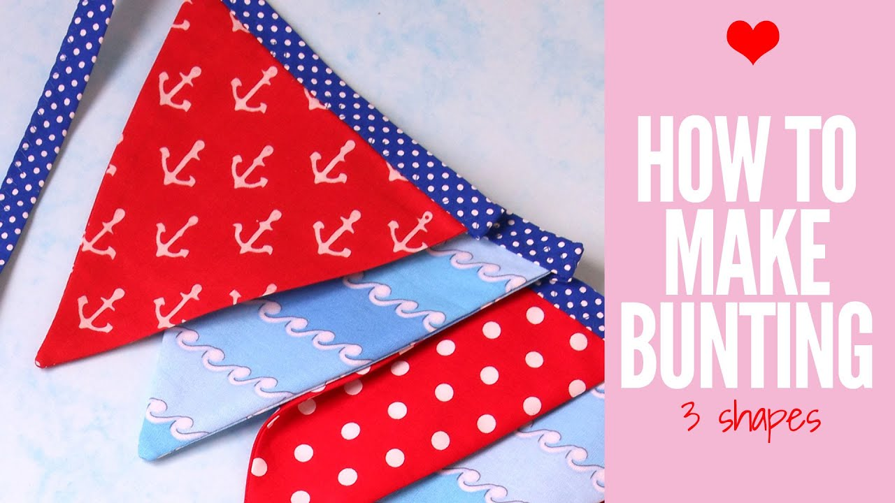 How To Make Bunting Baby Template Wedding Diy
