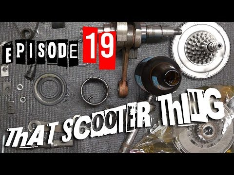 TST Ep. 19 - Vespa Rally 200 Full Build, Part 4: Gearbox, kick starter, crankshaft