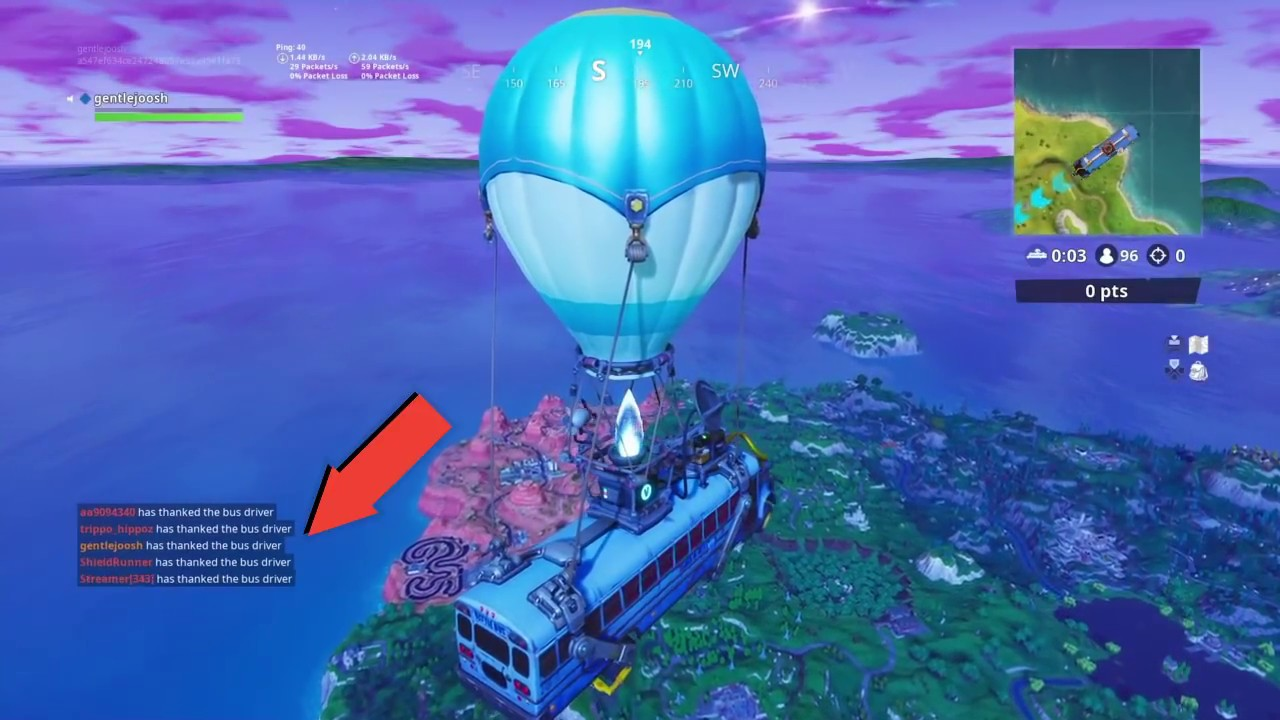 how to thank the bus driver in fortnite battle royale - fortnite how to thank the bus driver on ios