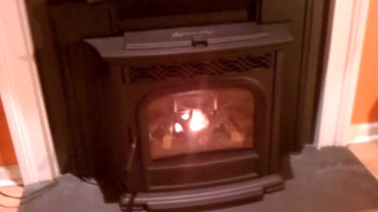 harman accentra pellet stove insert youtube