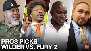 PROS PICKS | DEONTAY WILDER VS TYSON FURY 2 PREDICTIONS